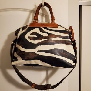 100% Authentic Dooney and Bourke Large Zebra Tote